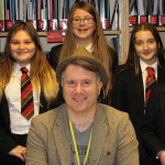 Children's author, Curtis Jobling, talks to students