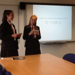 Students reached the national final of the Maths competition at Edge Hill university