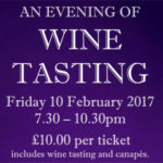 An evening of wine tasting