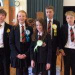 Students take part in mock election