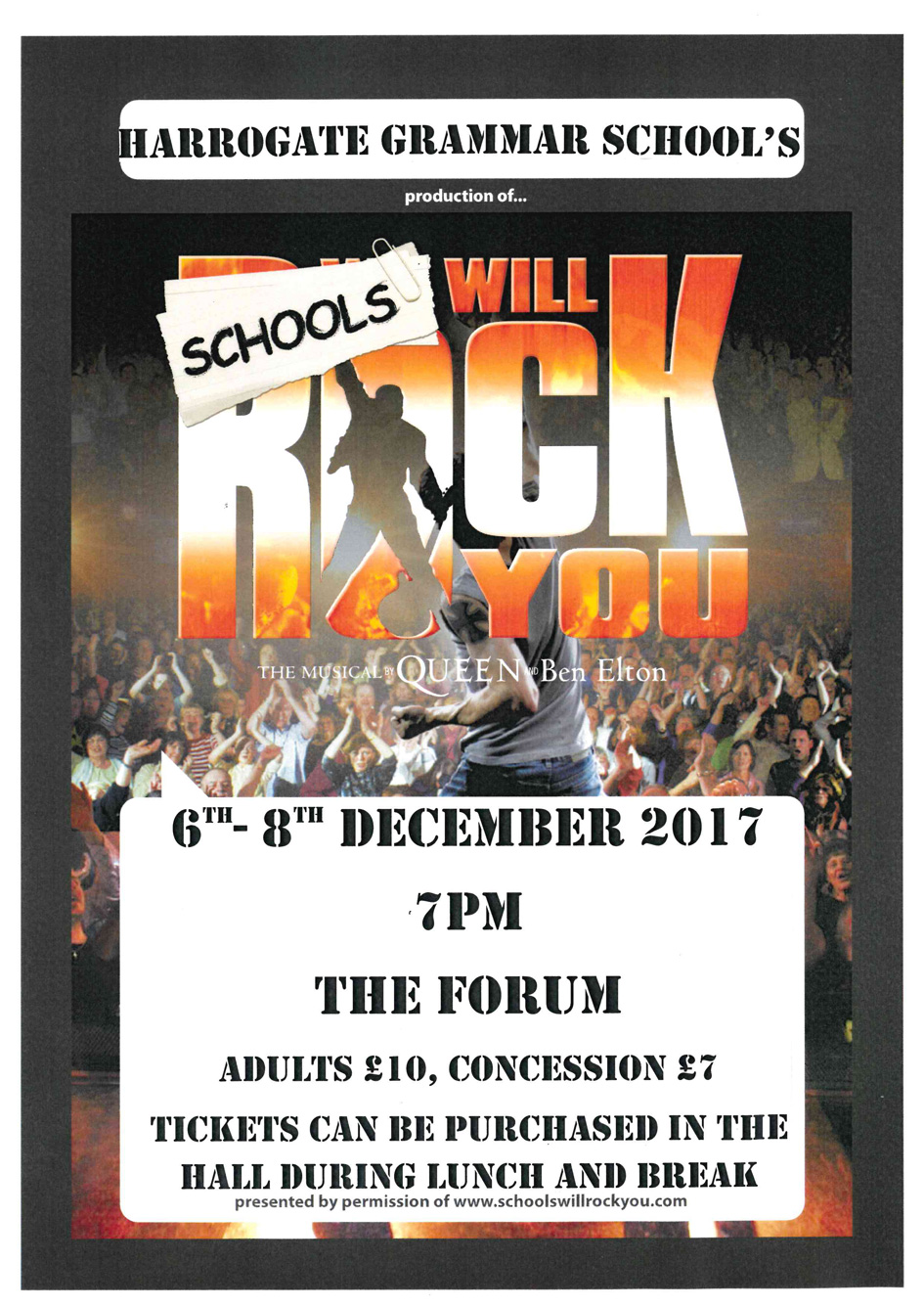 We Will Rock You - Harrogate Grammar School| Harrogate
