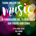 Fundraising gig for our friend Dom Sowa
