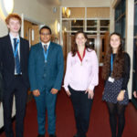 President of the Royal College of Veterinary Surgeons visits students