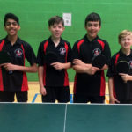 Table Tennis U13s through to the Nationals